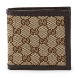 Gucci Men's GG Guccissima Bifold Wallet Coin Pouch